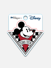 "Disney x Red Raider Outfitter Texas Tech ""Checkered Mickey"" Decal"