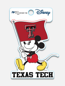"Disney x Red Raider Outfitter Texas Tech ""Flag Waver Mickey"" Decal"