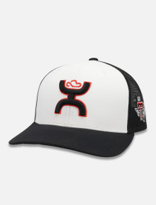 Texas Tech Red Raiders 2 Tone Hooey Cap w/ Hooey Logo and Pride on Side Snapback Cap Front