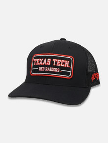 Hooey Hat with Vintage Red Raiders Patch Snapback Cap Front