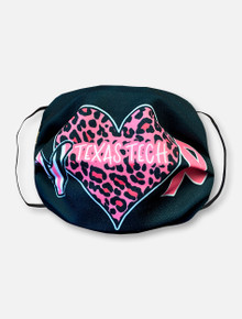 Black All Heart Pink Power Face Mask