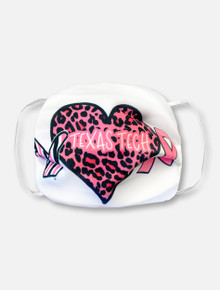 White All Heart Pink Power Face Mask