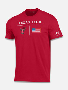 "Texas Tech Red Raiders Under Armour ""Military Appreciation Base"" Short Sleeve T-Shirt"