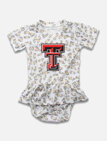 Texas Tech Red Raiders INFANT All Over Leopard Print Ruffle Onesie