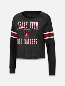 "Arena Texas Tech Red Raiders Double T ""Whimsical"" Rhinestone Long Sleeve T-Shirt"