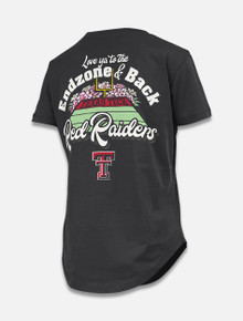 "Pressbox Texas Tech Red Raiders ""End Zone and back"" Crew Jersey T-Shirt"