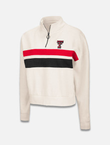 """Arena Texas Tech Red Raiders Double T """"Cooper"""" Cropped Quarter Zip Pullover"""