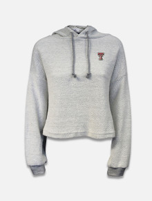 Summit Texas Tech Putty Coastal Terry Cropped Hoodie