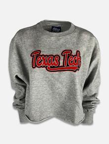 "Blue 84 Texas Tech Red Raiders ""Fintech"" Cropped Raw Edge Sweatshirt"