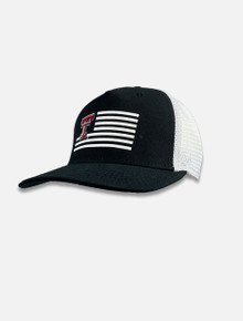 "Texas Tech Red Raiders ""Here"" Flag 2 Tone Snapback Cap Front"