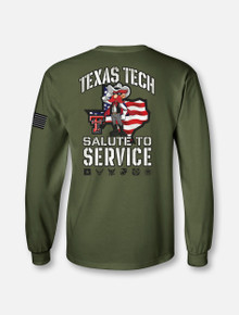 Texas Tech Red Raiders Salute to Service Green Long Sleeve