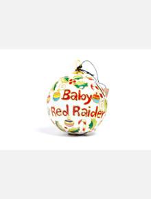 "Kitty Keller Texas Tech Red Raiders ""Baby Raider Christmas Icons"" Cloisonne on White Christmas Ornament"