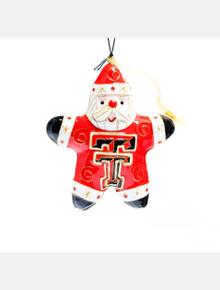 Kitty Keller Texas Tech Red Raiders Santa Star Cloisonne Christmas Ornament