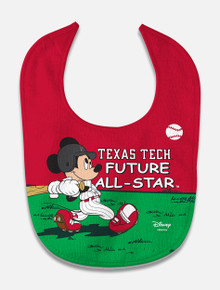 "Disney x Red Raider Outfitter ""Future All-Star"" Baseball Baby Bib"