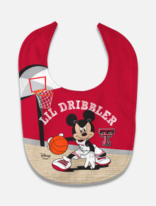 "Disney x Red Raider Outfitter ""Lil Dribbler"" Basketball Baby Bib"