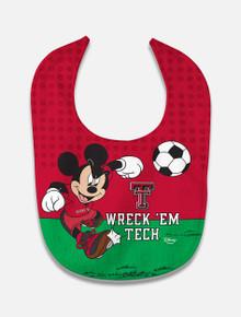 "Disney x Red Raider Outfitter ""Wreck' Em Tech"" Soccer Baby Bib"