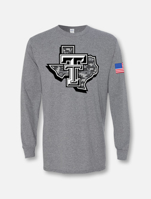 "Texas Tech Red Raiders Large ""Camo Lonestar Pride"" Long Sleeve"