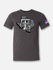 "Texas Tech Red Raiders Large ""Camo Lonestar Pride"" T-shirt"