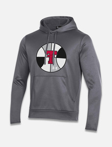 "Texas Tech Red Raiders Under Armour Basketball ""Insider""Armour Fleece Hoodie in Charcoal"