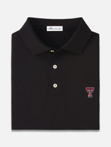 Texas Tech Red Raiders Peter Millar Solid Cotton Mercerized Polo