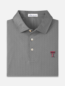 "Peter Millar Texas Tech Red Raiders ""Geo"" Printed Stretch Jersey Polo"