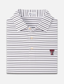 "Peter Millar Texas Tech Red Raiders ""Wiggs Stripe"" Stretch Jersey Polo"