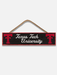 "Texas Tech Red Raiders Throw Back Double T "" Vault University "" Wood Sign"