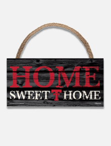 "Texas Tech Red Raiders Throw Back Double T ""Home Sweet Home"" Wood Sign"