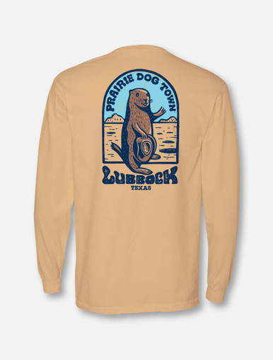 "World Famous Prairie Dog Town ""Howdy Dog"" Long Sleeve Shirt in Butter Back"