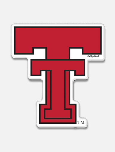"""Texas Tech Red Raiders Throwback """"Vault Double T"""" Magnet"""