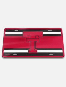 "Texas Tech Vault "" Throw Back Double T "" License Plate Frame Cover"