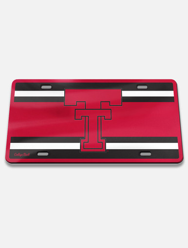 """Texas Tech Vault """" Throw Back Double T """" License Plate Frame Cover"""
