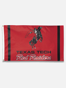 "Texas Tech Red Raiders Vault ""Horse and Rider with Red Raiders"" House Flag"