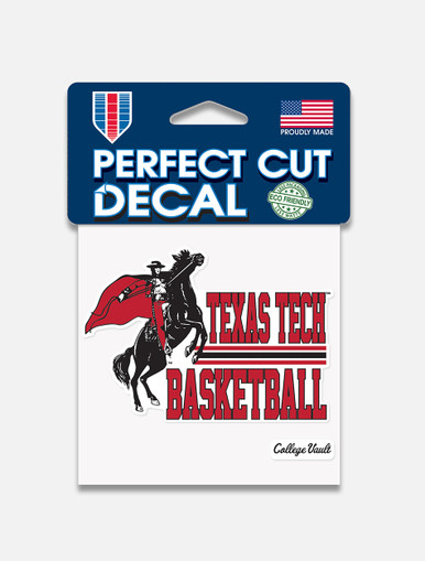 "Texas Tech Red Raiders ""Basketball"" Perfect Cut Decal"