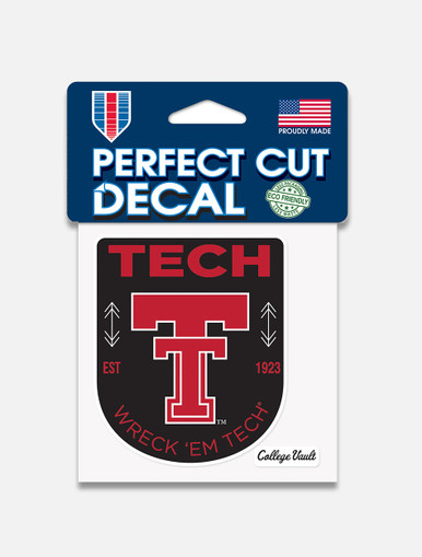 """Texas Tech Red Raiders """"Patch"""" Perfect Cut Decal"""