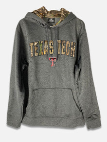 Texas Tech Red Raiders Camo Arch Over Double T Hoodie (COFH10604HC)