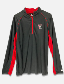 Texas Tech Red Raiders Black Performance Quarter Zip with Double T (COTL10148)