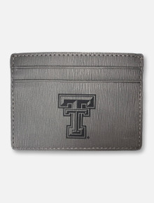 Texas Tech Laser Etched Double T on Slim Money Clip Wallet