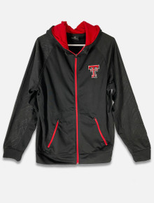 Texas Tech Red Raiders Embroidered Double T with Red Full Zip Jacket (COFF10543)