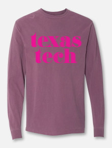 "Texas Tech Red Raiders ""Pristine"" Long Sleeve T-Shirt in Berry"