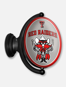 Texas Tech Illuminated Oval Rotating Sign with Raider Red