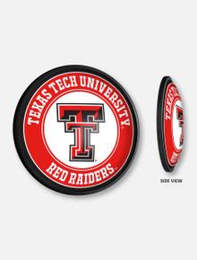 Texas Tech Illuminated Stationary Double T Round Sign
