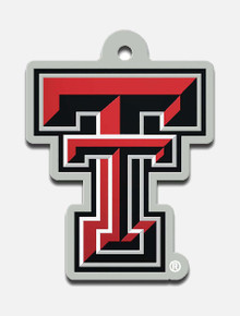 Wincraft Texas Tech Double T with Mirrored Back Keychain