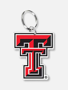 Wincraft Texas Tech Double T Premium Acrylic Keychain with Key Ring