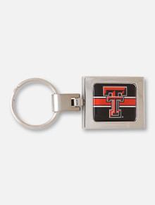 Wincraft Texas Tech Premium Domed Double T on Square Keychain