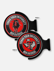 Texas Tech Illuminated Rotating Sign with Pride Logo and Masked Rider