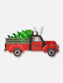 Texas Tech Christmas Truck Wooden Ornament