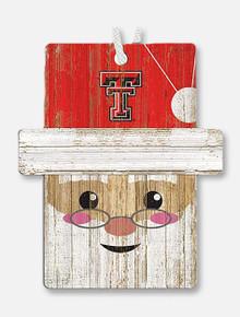 Texas Tech Santa Wooden Ornament