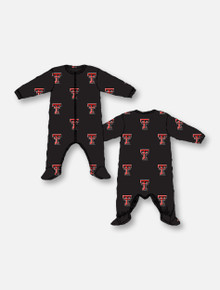 Texas Tech Red Raiders Double T All Over INFANT Pajama Sleeper