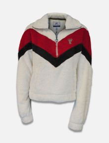 Summit Texas Tech Red Raiders Double Plush Color Block 1/2 Zip Pullover